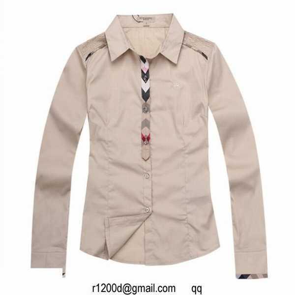 Chemise burberry femme manche courte soldes chemise femme grand col chemise chinoise femme - Vente privee com grandes marques a prix discount ...