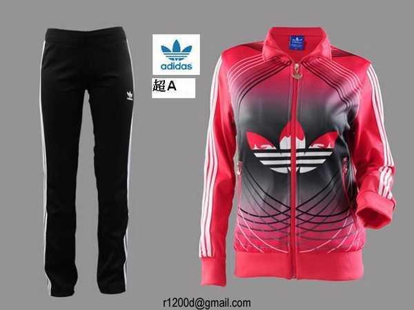 jogging adidas noir pas cher femme