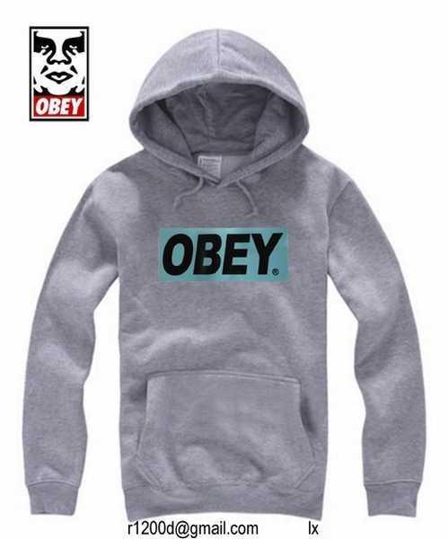 sweat obey gris pas cher,sweat obey bleu,